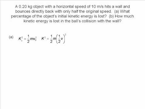 kinetic energy problem solving