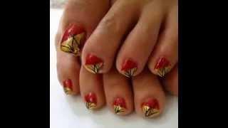 Cute pedicure nail art