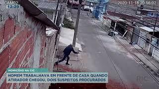 Homem trabalhava em frente de casa quando foi surpreendido e morto, crime aconteceu no CIC
