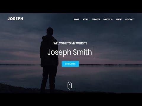 Joseph - Personal Portfolio HTML Template | Bootstrap Portfolio Website