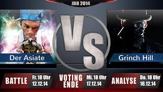 JBB 2014 [BonusBattle 1/4] - Der Asiate vs. Grinch Hill [ANALYSE]