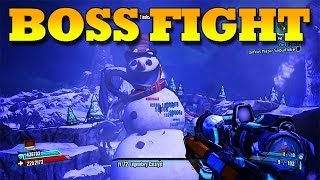 Borderlands 2 DLC: Boss Fight #38 Mister Tinder Snowflake (Gameplay/Commentary) [HD]