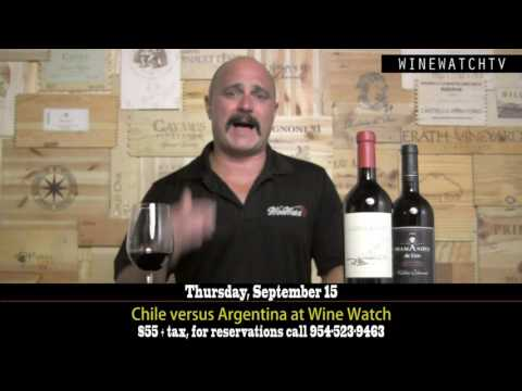 Chile versus Argentina at Wine Watch Sept 2016 - click image for video