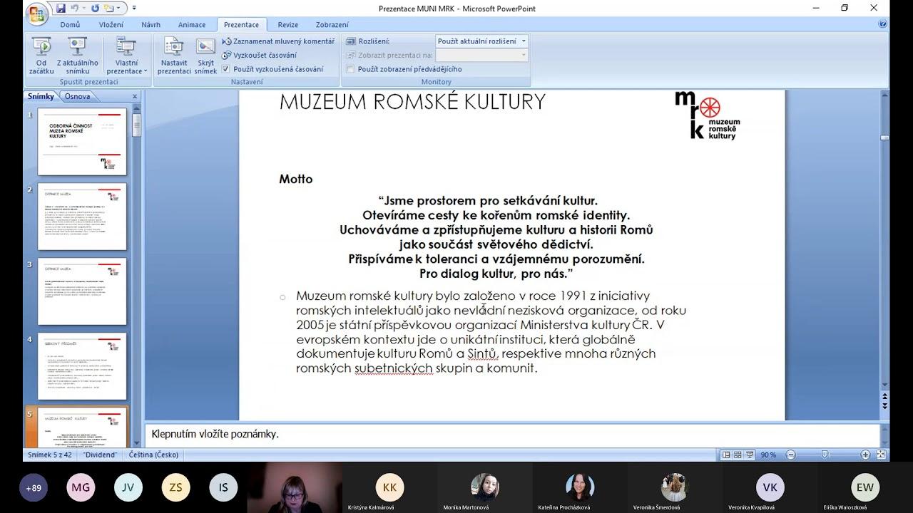 Petra Svobodová: Muzeum Romské kultury
