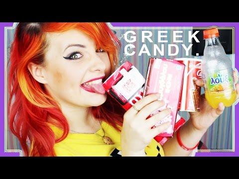 BRITISH GIRL TRIES GREEK CANDY!!!