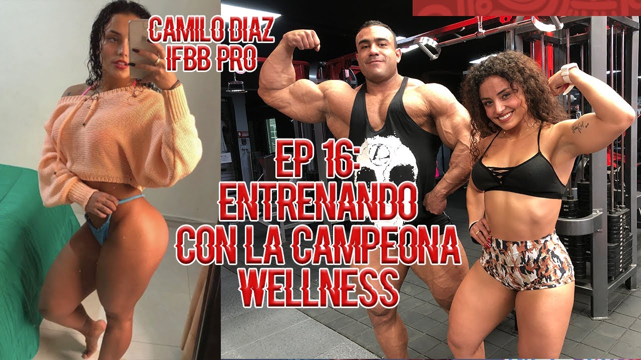 PIERNA CON LA CAMPEONA WELLNESS MR. OLYMPIA AMATEUR KATHERINE ZULUAGA - Camilo Diaz IFBB PRO