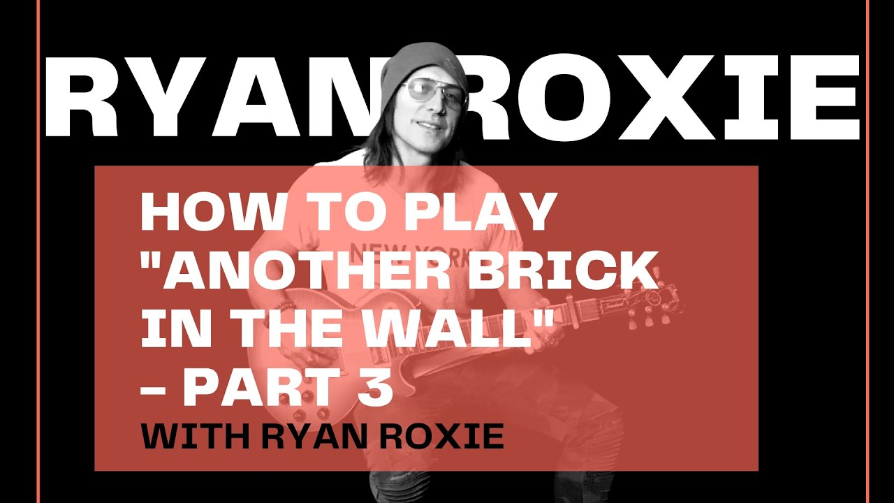 03 Another Brick In The Wall Chord Version Youtube