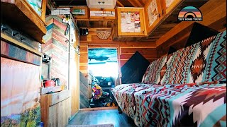 Gorgeous Custom DIY Box Truck Conversion That Offers Freedom & Rent Free Living