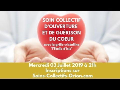 Soin Collectif d'Ouverture et de Guérison du Cœur avec l'Etoile d'Isis le 03/07/2019 à 21h
