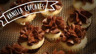Eggless Vanilla Cupcakes| Easy To Bake Dessert Recipe | Kiddie's Corner With Anushruti