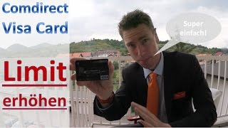 Comdirect: So erhöht man das Limit der Visa Card [Anleitung]