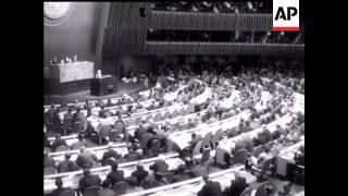 Macmillan and Khrushchev Address UN - 1960