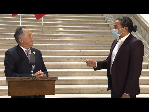 WATCH: Manitoba's new Indigenous relations minister called out in first press conference