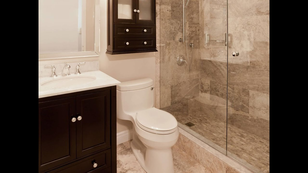 Walk In Shower Designs For Small Bathrooms YouTube - Small bathroom remodel with walk in shower