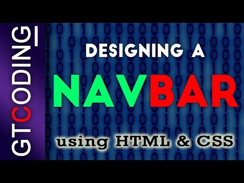 How To Quickly Create A Website Using HTML And CSS (Navigation Bar) - Part 3
