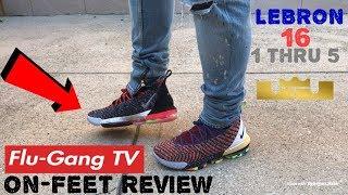 Nike LEBRON 16 1 thru 5 (What the