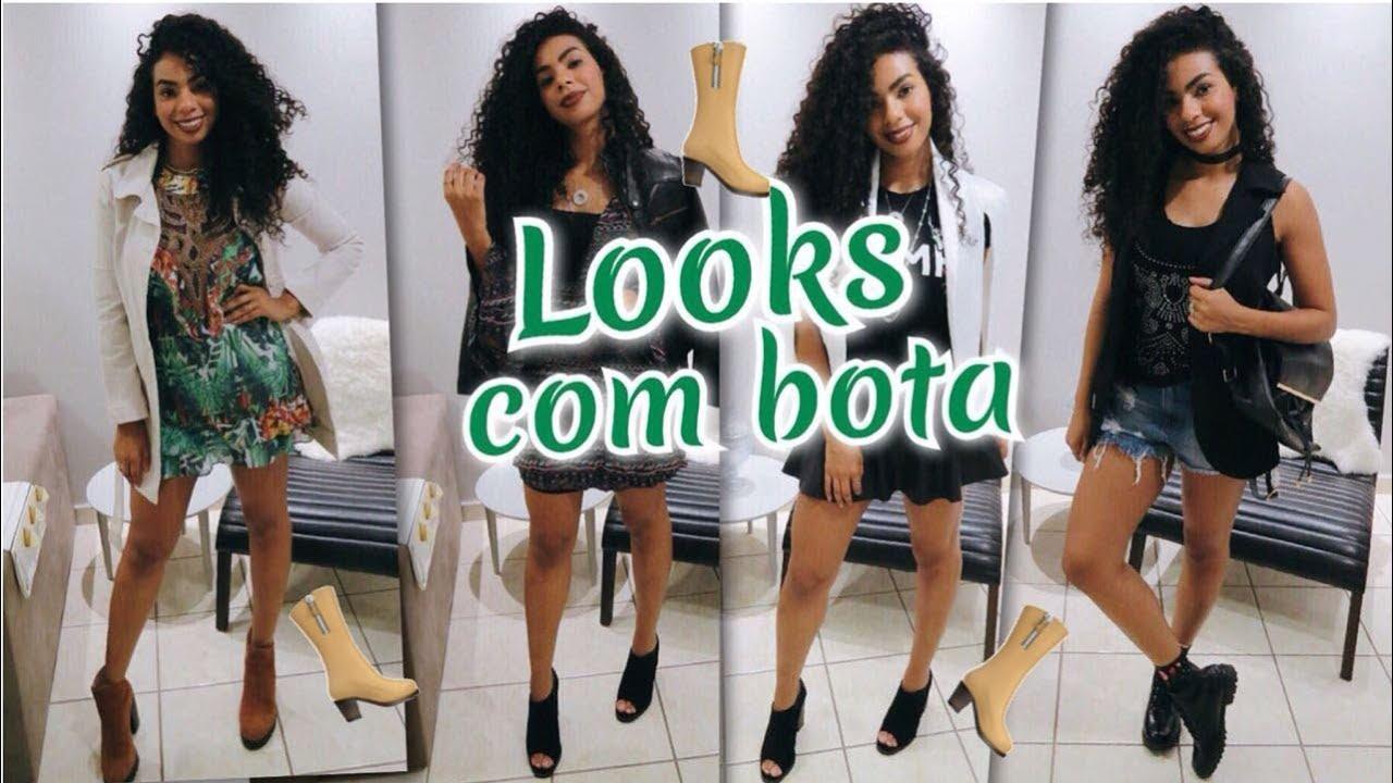 2e2b487eac COMO MONTAR LOOKS COM BOTA |BOTA DE CANO CURTO 5 LOOKS - YouTube