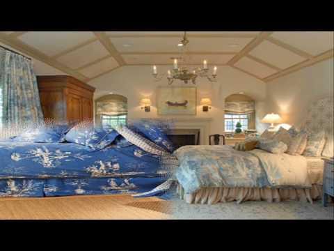 Blue Toile Bedroom Design