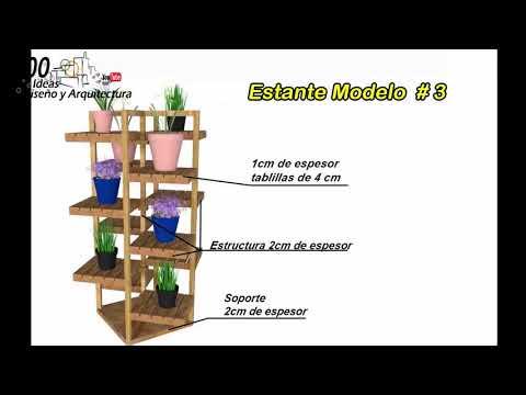 Estantes En Madera # 2, Modelos Geniales + Planos Con Medidas