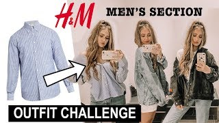 SHOPPING IN THE MEN'S SECTION!! (how to style men's clothing)