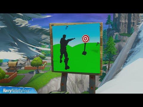 Hit Easy Firing Range Target Location Guide - Fortnite (Bullseye! Challenge)