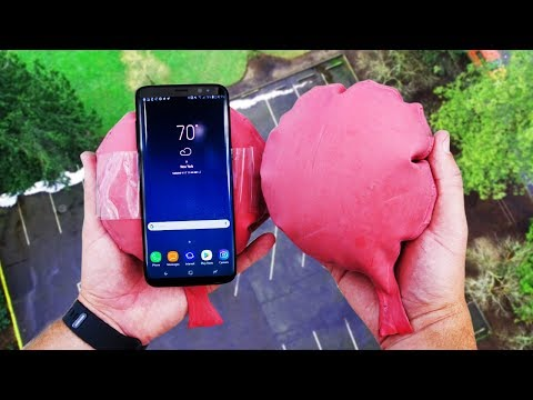 Can Whoopie Cushions Protect Galaxy S8 From 100ft Drop Test?