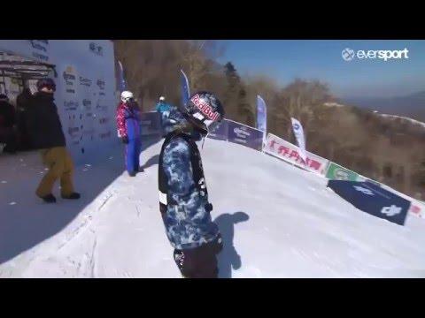 Run 3  Slopestyle Women's - ENNI RUKAJÄRVI (FIN) @ Corona World Championship of Snowboarding