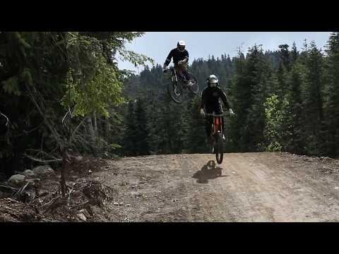 Whistler Mtn Bike Park, A Line Sending It