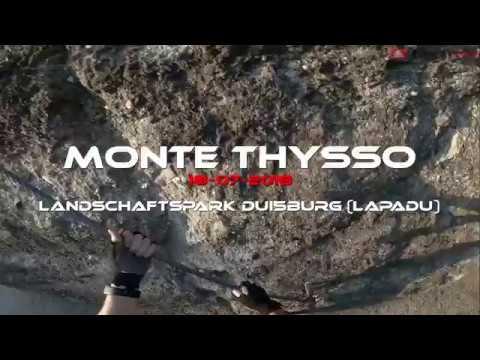 Klettersteig Duisburg : Monte thysso klettersteig via ferrata im landschaftspark