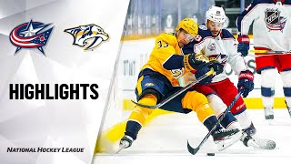 NHL Highlights | Blue Jackets @ Predators 01/16/21