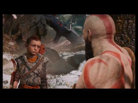 God of War - The Marked Trees: Atreus Rushes Deer Shot, Kratos