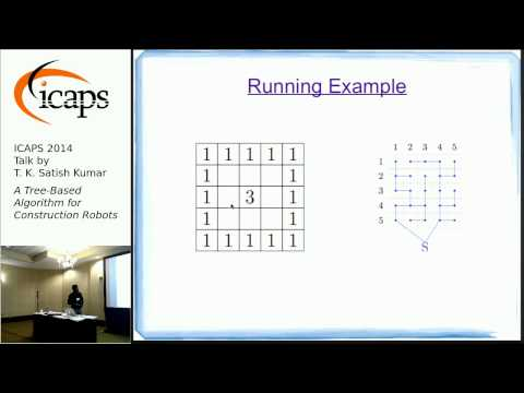 "ICAPS 2014: Satish Kumar on ""A Tree-Based Algorithm for Construction Robots"""