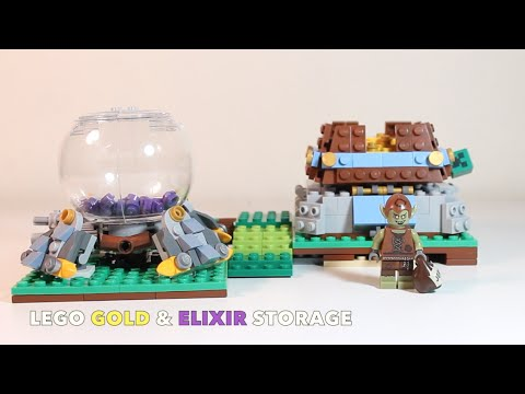 """LEGO Clash of Clans """"Gold and Elixir Storage"""" MOC Review"""