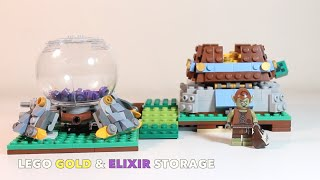 "LEGO Clash of Clans ""Gold and Elixir Storage"" MOC Review"
