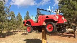 The Craziest Weathervane You've Ever Seen! Custom Lifted Willys Jeep With Elk Horn Hood Ornament.