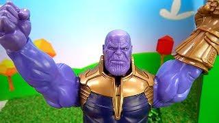 Супергерои Человек Паук и Железный человек обхитрили Таноса!