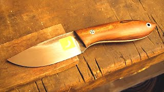 Knifemaking tutorial - Etching the logo on steel