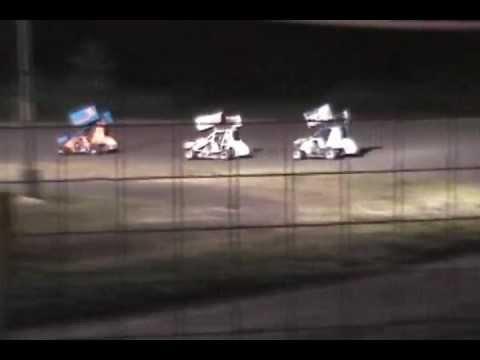 2012-6-16 Gulf Coast Speedway Feature Mini Sprint Collin Restrictor.wmv