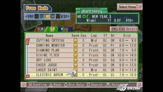 Gallop Racer 2004 PlayStation 2 Gameplay