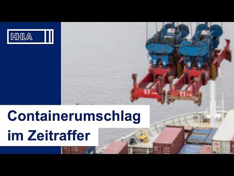 24 Stunden: Containerumschlag im Zeitraffer