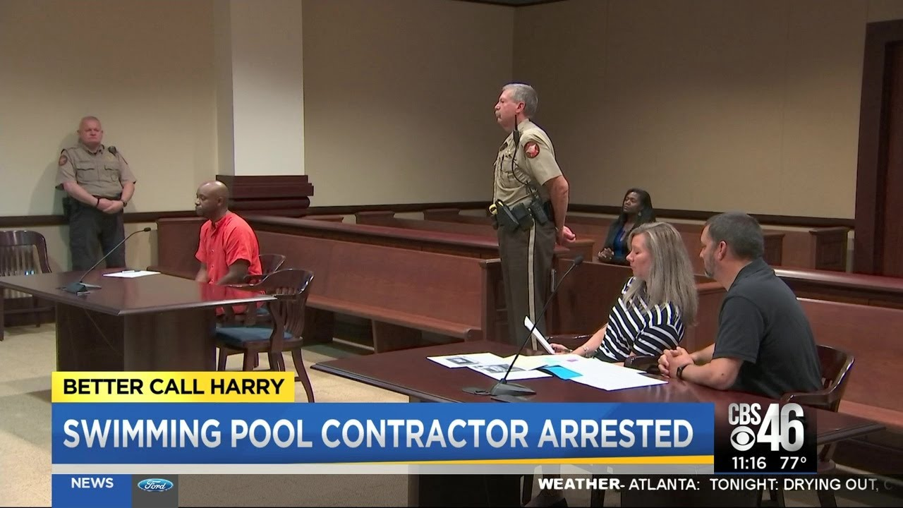 Black Swimming Pool Contractor Arrested