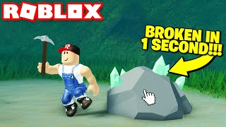BREAK BLOCKS 10X FASTER! (Pickaxe glitch) Roblox skyblox