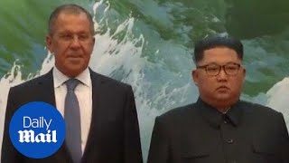 North Korean leader meets Russian foreign minister in Pyongyang