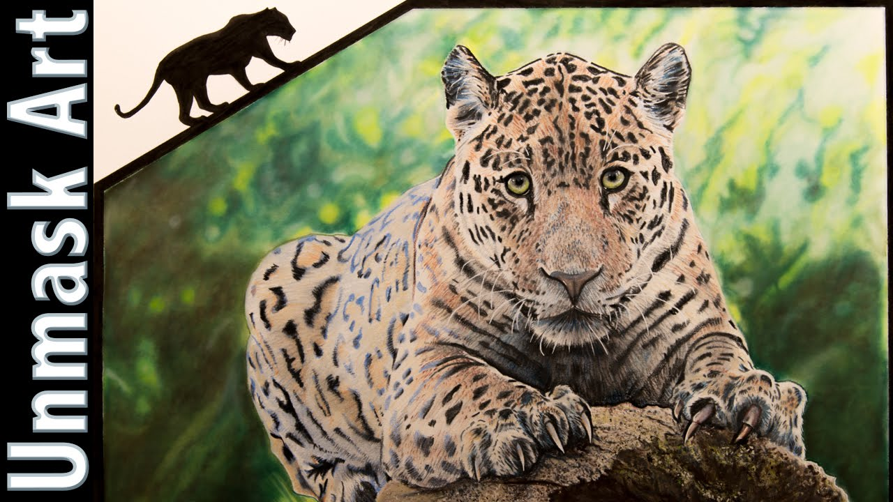 Jaguar | Colored Pencil Drawing Time Lapse - YouTube