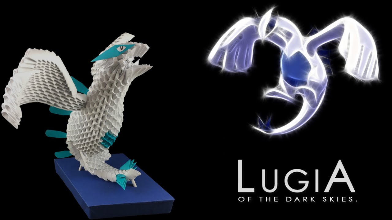 3D Origami Lugia Tutorial From Pokemon Pt 1