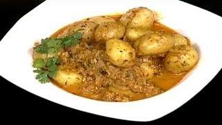 Baby Potatoes in Spicy Yogurt Gravy by Sanjeev Kapoor