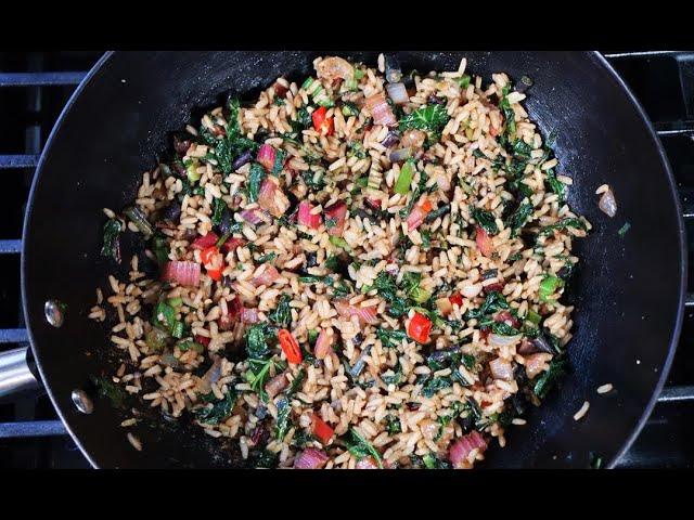 Garden (veg) Fried Rice #MeatFreeMondays | CaribbeanPot.com
