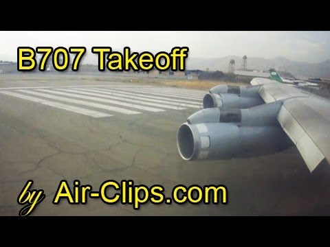 Boeing 707 Saha Air, world's LAST 707 in passenger service - noisy takeoff from Tehran! [AirClips]