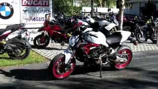 2015 Ducati Monster 821 Star White Walkaround Video at Euro Cycles of Tampa Bay