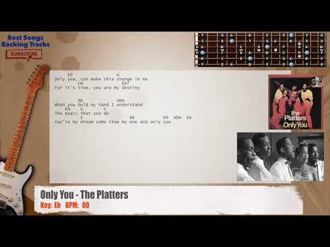 Only You - The Platters Guitar Backing Track with chords and lyrics ...